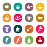 Vector Illustration. Fast food icons Stock Images