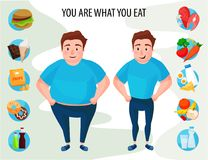 Healthy lifestyle infographic vector illustration