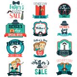 Father Day Sale Sign Clipart Illustration Stock Images