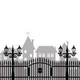 Vector illustration. Fence. Royalty Free Stock Photography