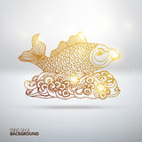 Vector illustration with Feng Shui fish Stock Photography