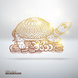Vector illustration with Feng Shui turtle Royalty Free Stock Photo