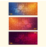 Vector illustration of a festive bright background with bokeh effect. Template, design element for invitations to a party, greeting cards Royalty Free Stock Images