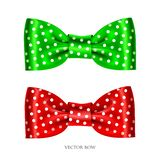 Festive green bow. Vector illustration of festive green and red bows Royalty Free Stock Image