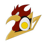 Vector illustration of a fiery rooster on New year 2017, Royalty Free Stock Photo