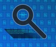 Information retrieval, background technology. Image file definition. Vector illustration, file search. Information retrieval, background technology. Image file Stock Images