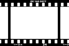 Vector illustration of film strip. A vector illustration of an old film strip Royalty Free Stock Image