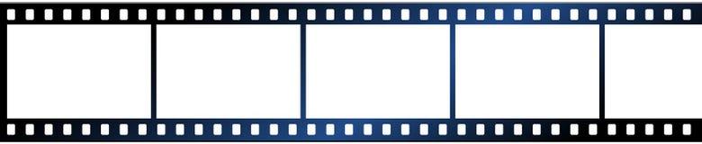 Film strip on white background. Vector illustration of film strips on white background - large image Stock Photos