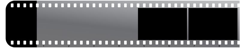 Film strip on white background. Vector illustration of film strips on white background - one side round corner Royalty Free Stock Image