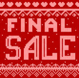 Vector Illustration of final sale discount Knitted Style for Design, Website, Background, Banner.  Royalty Free Stock Photos