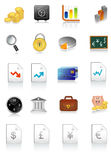 Vector illustration of financial icons. Set Royalty Free Stock Photos