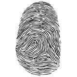 Vector illustration of fingerprint. Finger print vector icon illustration isolated on white backgroundn vector illustration