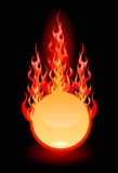 Vector illustration of a fire frame. Vector illustration of a round fire frame Stock Photography