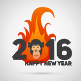 Vector illustration of fire monkey, symbol 2016. Vector illustration of fire monkey, symbol of 2016 Royalty Free Stock Photos