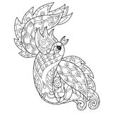 Vector illustration of the Firebird. Peacock Royalty Free Stock Image