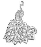 Vector illustration of the Firebird. Peacock Stock Photography