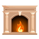 Vector illustration Fireplace Royalty Free Stock Photo