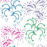 Vector illustration - Firework. Royalty Free Stock Photo