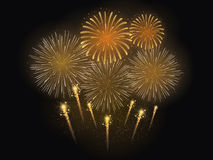 Vector Illustration of Firework Celebration Stock Image