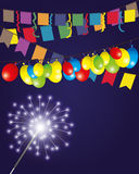 Vector illustration. Firework. Royalty Free Stock Photography