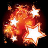 Vector illustration fireworks Royalty Free Stock Photography