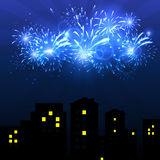 Vector Illustration of Fireworks. Vector illustration Fireworks against a bright background Stock Photography