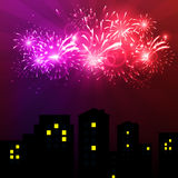 Vector Illustration of Fireworks. Vector illustration Fireworks against a bright background Royalty Free Stock Photography