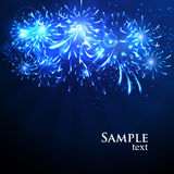 Vector Illustration of Fireworks. Vector illustration Fireworks against a bright background Royalty Free Stock Image