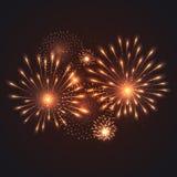 Vector illustration of fireworks Stock Photo