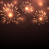 Vector illustration of fireworks Royalty Free Stock Photos