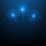Vector illustration of fireworks. Beautiful background with fireworks for your design Royalty Free Stock Photography
