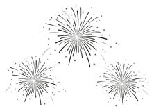 The vector illustration of fireworks Stock Photo