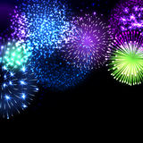 Vector illustration of fireworks. Stock Photo