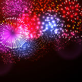 Vector illustration of fireworks. Stock Images