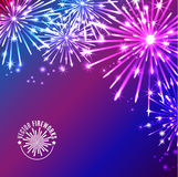 Vector Illustration of Fireworks. Holiday texture Stock Image