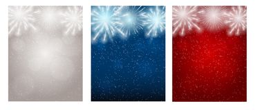 Vector Illustration of Fireworks, Salute on a Dark Background. EPS10 Royalty Free Stock Image
