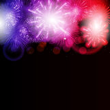 Vector Illustration of Fireworks, Salute on a Dark. Background EPS10 Stock Image