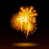 Vector Illustration of Fireworks, Salute on a Dark Royalty Free Stock Photography