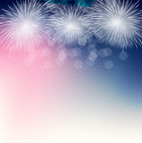 Vector Illustration of Fireworks, Salute on a Dark. Background EPS10 Royalty Free Stock Photo