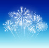 Vector Illustration of Fireworks, Salute on a Dark. Background EPS10 Royalty Free Stock Images