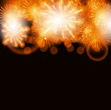 Vector Illustration of Fireworks, Salute on a Dark. Background EPS10 Stock Photography