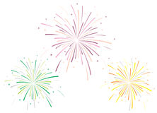 Vector illustration of fireworks Stock Photo