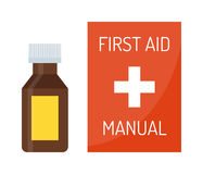 Vector illustration of first aid kit box medical emergency Stock Photography