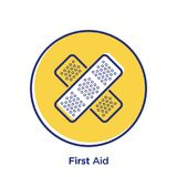 First Aid Web Icon. A vector illustration of first aid kit icon on a white background Stock Images