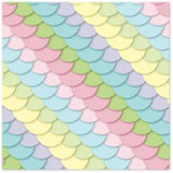 Seamless  pattern: multi-colored scales Stock Photo