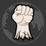 Vector illustration. Fist. Stock Photo