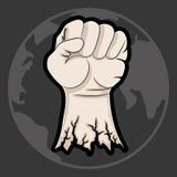 Vector illustration. Fist. Vector illustration. Force concept. Fist Stock Photo