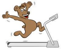 Bear jogging on a treadmill. Vector illustration of a fit bear jogging on a treadmill Stock Photography