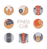 Vector illustration of fitness Stock Image