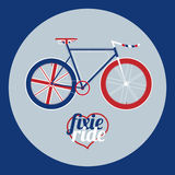 Vector illustration fixed gear bicycle Stock Photo